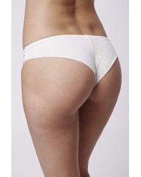 TOPSHOP - Natural Floral Lace Mini Panties - Lyst