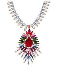 DANNIJO - Red Silver-Plated Multicolour Valeria Necklace - Lyst