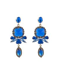 Ziba | Blue Elva Earrings | Lyst