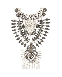 River Island | Metallic Silver Tone Ethnic Tassel Long Necklace | Lyst