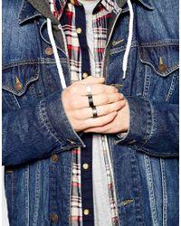 ASOS - Multicolor Ring Pack for Men - Lyst