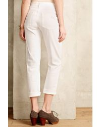 Pilcro - Natural Hyphen Distressed Jeans - Lyst