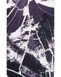 "KENZO - Black ""Smashed Mountains""-Print Blouse - Lyst"
