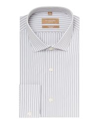 Richard James | Gray Stripe Tailored Long Sleeve Classic Collar Shirt for Men | Lyst