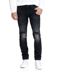 7 For All Mankind | Black Paxtyn Tapered Skinny Jeans for Men | Lyst