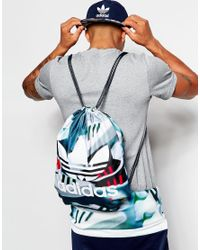 Adidas Originals | Multicolor Drawstring Backpack In Shoe Chaos Print Ax5788 for Men | Lyst