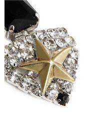 Iosselliani | Multicolor Star Crystal Drop Earrings | Lyst