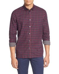 Ted Baker | Red 'jumbies' Modern Slim Check Sport Shirt for Men | Lyst