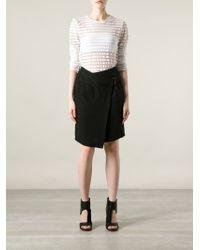Ann Demeulemeester   Black Asymmetric Wrap Skirt   Lyst