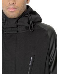 Y-3 - Black Coated Cotton Sweatshirt Jacket for Men - Lyst