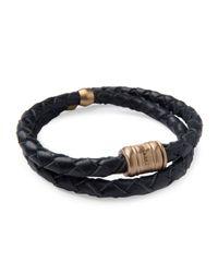 Miansai - Blue Men's Woven Leather Bracelet for Men - Lyst