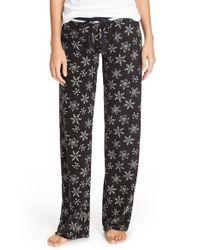 Pj Salvage | Black Thermal Knit Lounge Pants | Lyst