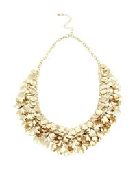 Oasis | Metallic Teardrop Cluster Necklace | Lyst
