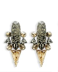 Moutoncollet | Metallic Moutton Collet Brooks Earrings | Lyst
