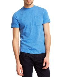 Kenneth Cole | Blue Chest Pocket Tee for Men | Lyst
