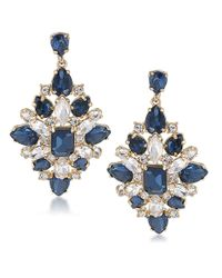 Carolee | Blue Note Cluster Drop Earrings | Lyst