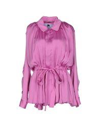 Blumarine - Purple Shirt - Lyst
