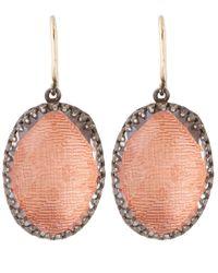 Larkspur & Hawk | Red Silver Topaz Lily Drop Earrings | Lyst