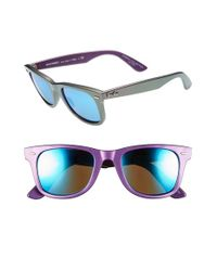 Ray-Ban - Purple Cosmo Collection 'classic Wayfarer' 50mm Sunglasses - Violet - Lyst