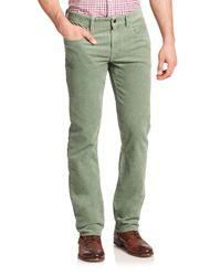 Polo Ralph Lauren   Green Varick Slim-straight Stretch-corduroy Pant for Men   Lyst