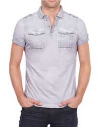 William Rast | Gray Short-sleeve Polo Shirt for Men | Lyst