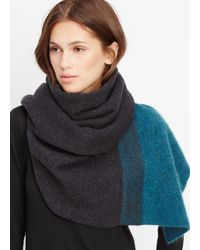 Vince - Black Needle Punch Colorblock Scarf - Lyst