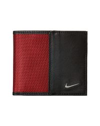 Nike - Red Leather/tech Twill Billfold for Men - Lyst