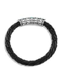 David Yurman - Metallic Frontier Bracelet In Black With Turquoise - Lyst