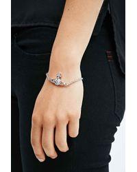 Vivienne Westwood | Metallic Mayfair Bas Relief Orb Bracelet in Silver | Lyst