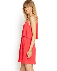 Forever 21 - Pink Contemporary Flouncy Pleated Cami Dress - Lyst