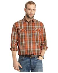 G.H. Bass & Co. | Brown Mountain Twill Long-sleeve Plaid Shirt for Men | Lyst