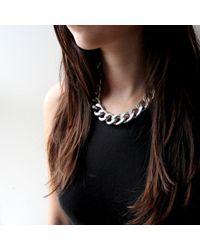 Jenny Bird - Metallic Riri Collar - Silver - Lyst