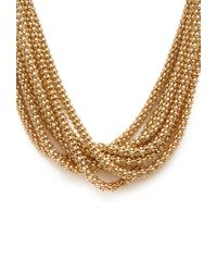 Forever 21 - Metallic Layered Box Chain Necklace - Lyst
