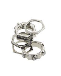 Rebecca Minkoff | Metallic Hex Ring | Lyst