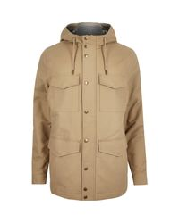 River Island - Brown Four Pocket Coat for Men - Lyst