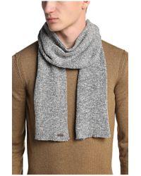 BOSS Orange - Gray Cotton Scarf: 'ariffons' for Men - Lyst
