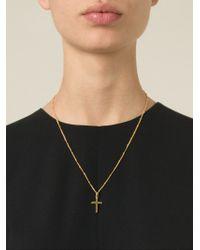 Dolce & Gabbana | Metallic Crucifix Pendant Necklace | Lyst