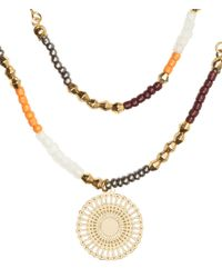 H&M | Metallic Double-strand Necklace | Lyst