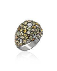 Kimberly Mcdonald - Metallic Multicolor Diamond Dome Ring - Lyst
