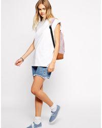 ASOS - White Boyfriend T-Shirt In Tunic Length - Lyst