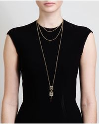 Givenchy - Metallic Cross and Frame Pendant Necklace - Lyst