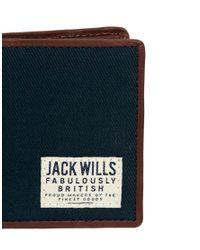 Jack Wills - Blue Billfold Wallet for Men - Lyst