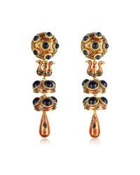 DSquared² | Metallic Charlotte Brass And Enamel Earrings | Lyst