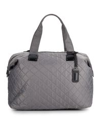 Steve Madden | Gray Quilted Duffle Bag | Lyst