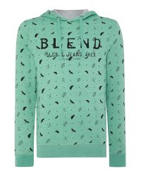 Blend | Green Pattern Crew Neck Pull Over Jumper for Men | Lyst