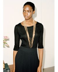 & Other Stories | Metallic Draped Chain Necklace | Lyst