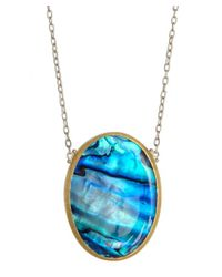 Gurhan | Metallic Silver And Paua Shell Pendant Necklace | Lyst