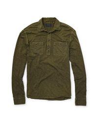 Polo Ralph Lauren - Green Slub Cotton Jersey Pullover for Men - Lyst