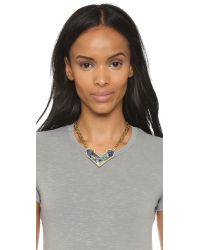 Lulu Frost - Green Petra Pendant Necklace - Blue Multi - Lyst