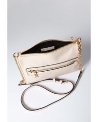 Forever 21 - Pink Unstructured Faux Leather Crossbody - Lyst
